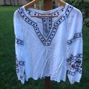 Abercrombie & Fitch White Floral Blouse